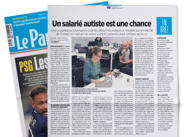 leparisien-Un salarié autiste est une chance